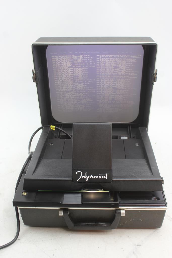 Informant Ii Portable Microfiche Reader Projector