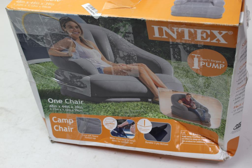 Intex Inflatable Sofia And Camp Chair Property Room