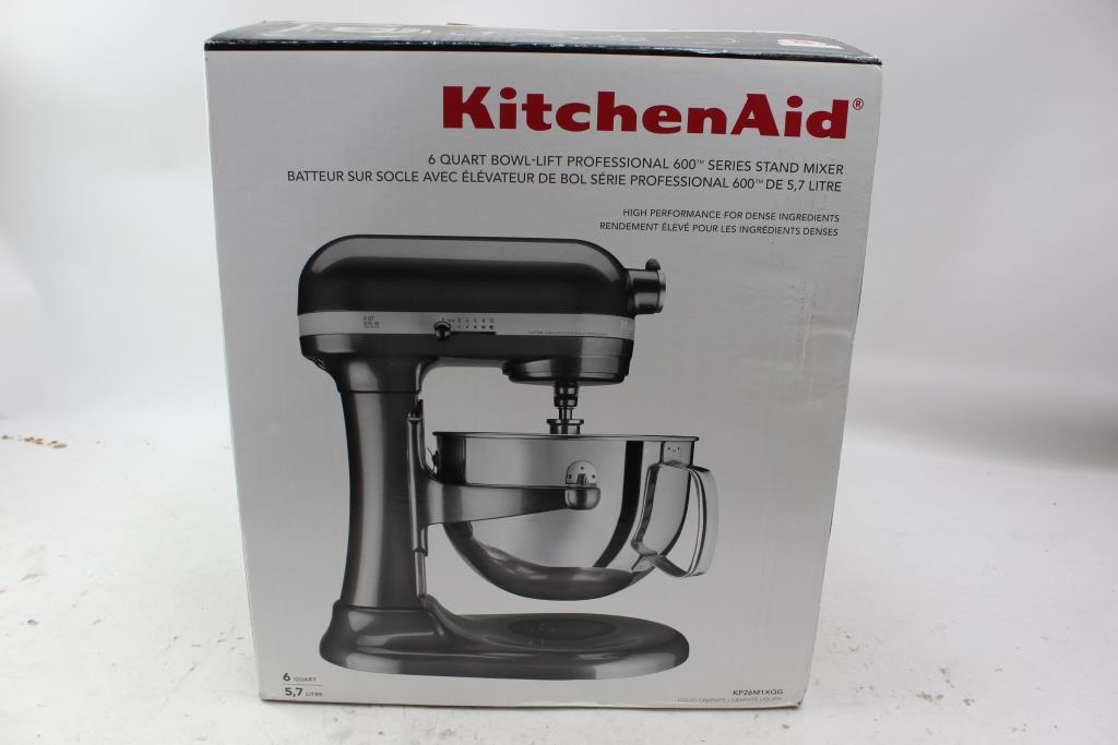 Kitchen Aid Professional 600 Series Stand Mixer Liquid Graphite