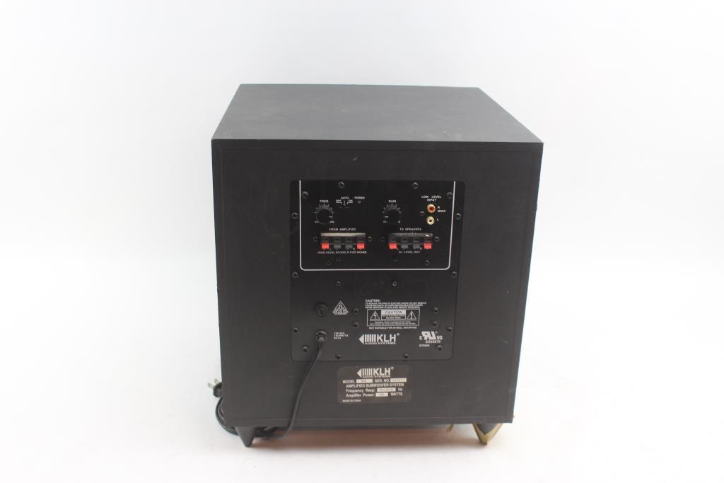 Klh Subwoofer Audio Systems Speaker Property Room