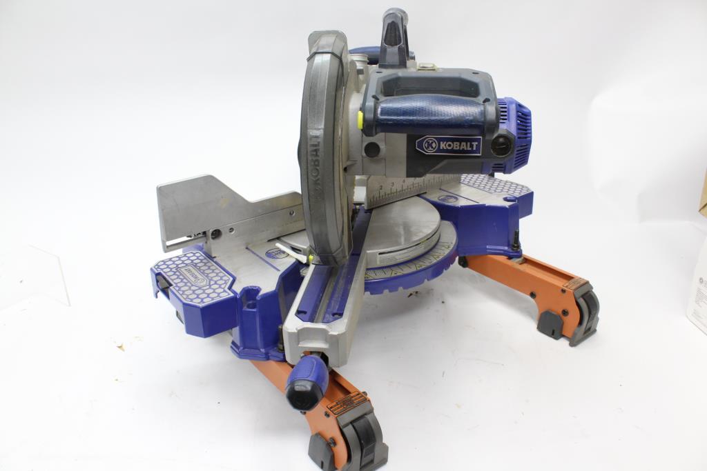 """Kobalt Tools Review >> Kobalt 10"""" Bevel Sliding Laser Compound Miter Saw ..."""