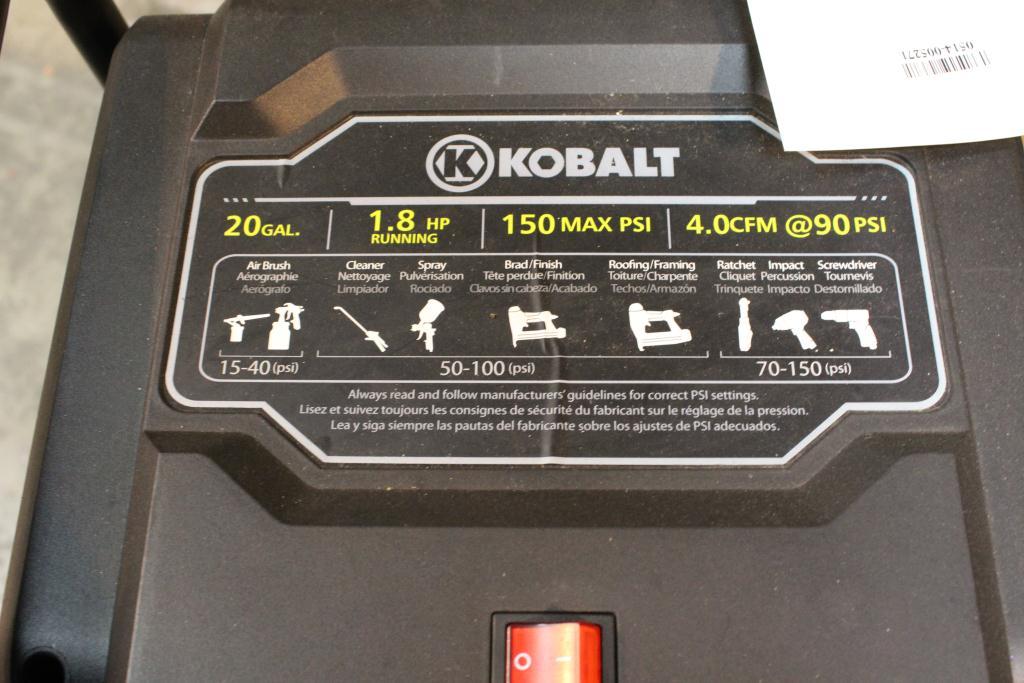 Kobalt Tools Review >> Kobalt 20 Gallon Air Compressor | Property Room
