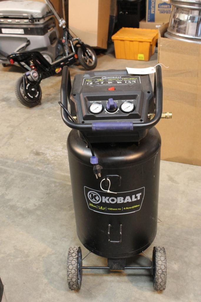 kobalt 20 gallon air compressor property room. Black Bedroom Furniture Sets. Home Design Ideas