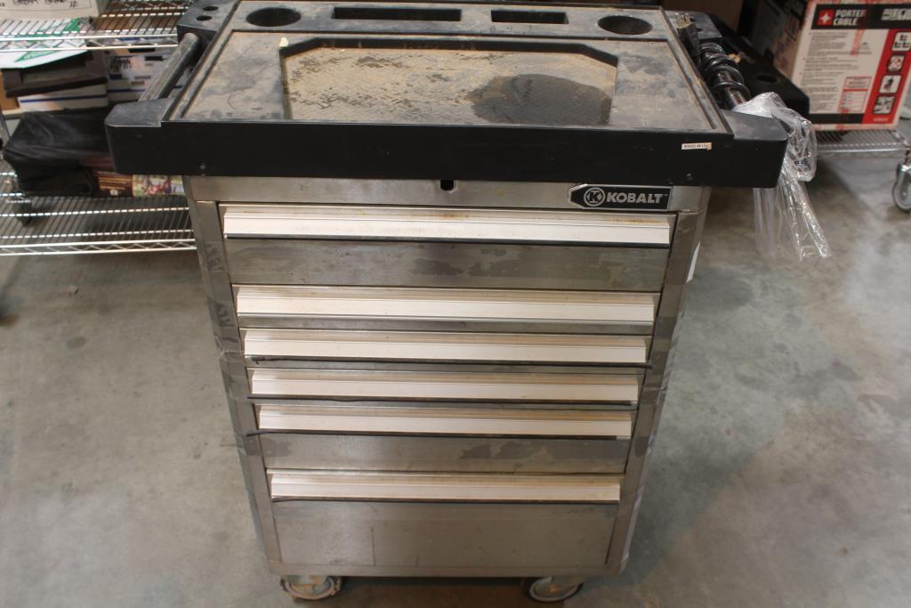 kobalt stainless steel 6-drawer roller cabinet | property room