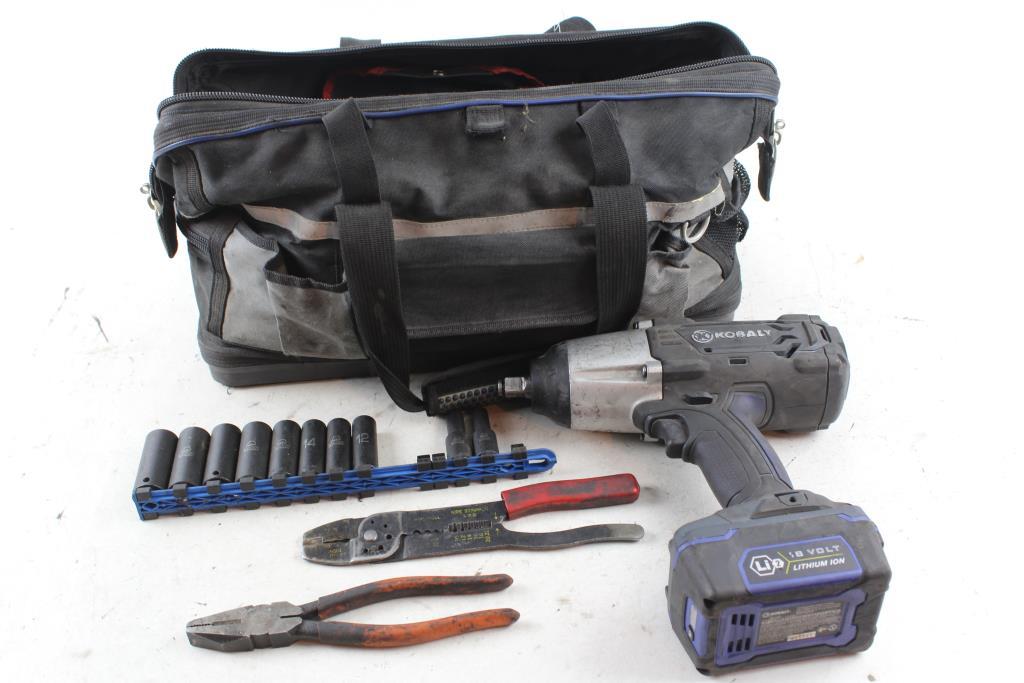 Kobalt Tool Bag Filled Various Tools