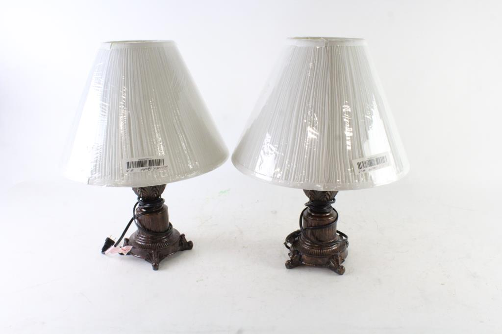 Lamps With Better Homes Empire Shades, 4 Pieces