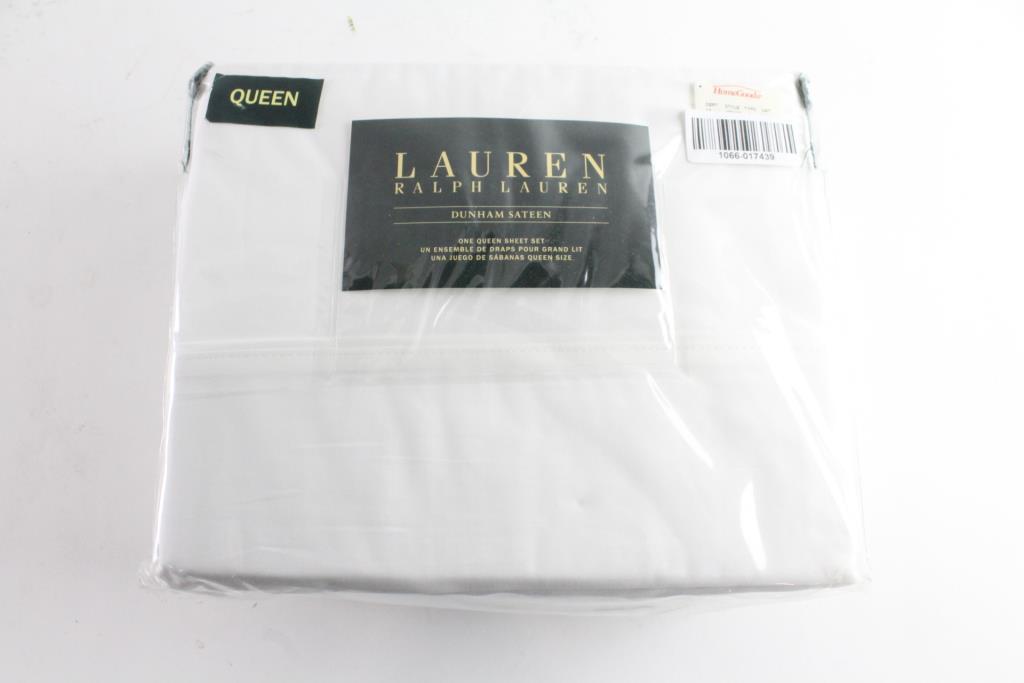 Lauren By Ralph Lauren Dunham Sateen Sheet Set Queen Size