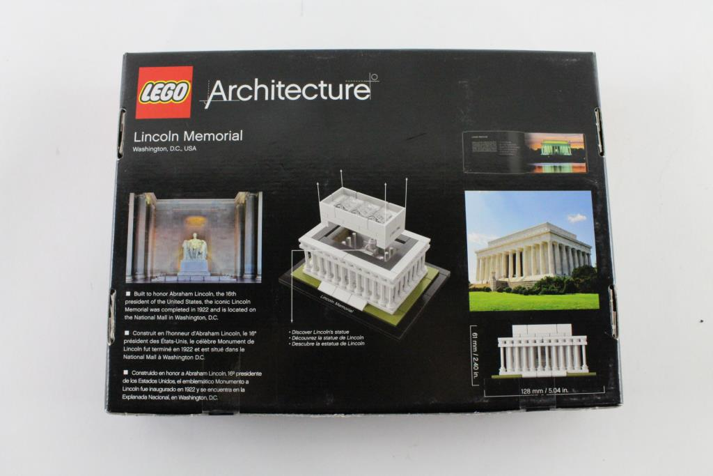 Lego Architecture Lincoln Memorial Lego Set Property Room