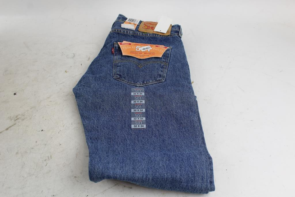 5295d0cf1d7 Levi Strauss 501 Original Fit Straight Leg Button Fly Jeans ...