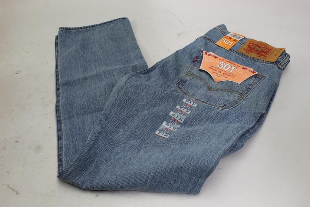 4fba13eb89b Image 1 of 3. Levi Strauss 501 Straight Leg Button Fly Jeans