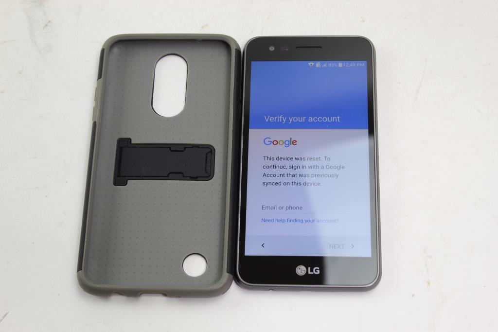 LG Fortune, 16GB, Cricket Wireless, Google Account Locked, Sold For