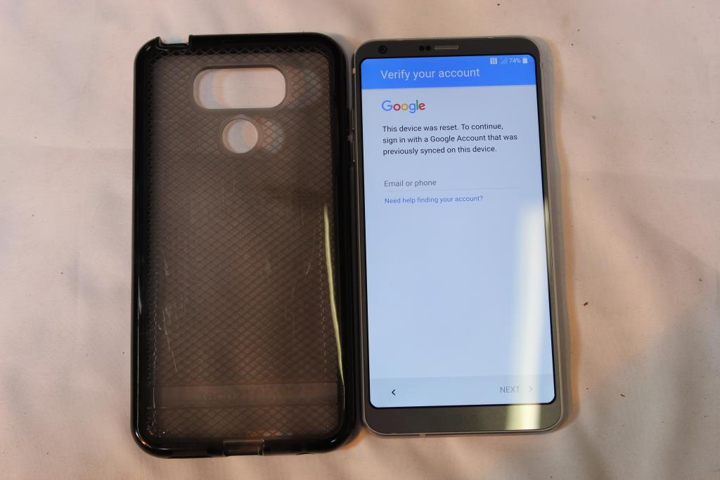 LG G6, 32GB, Verizon, Google Account Locked, Sold For Parts