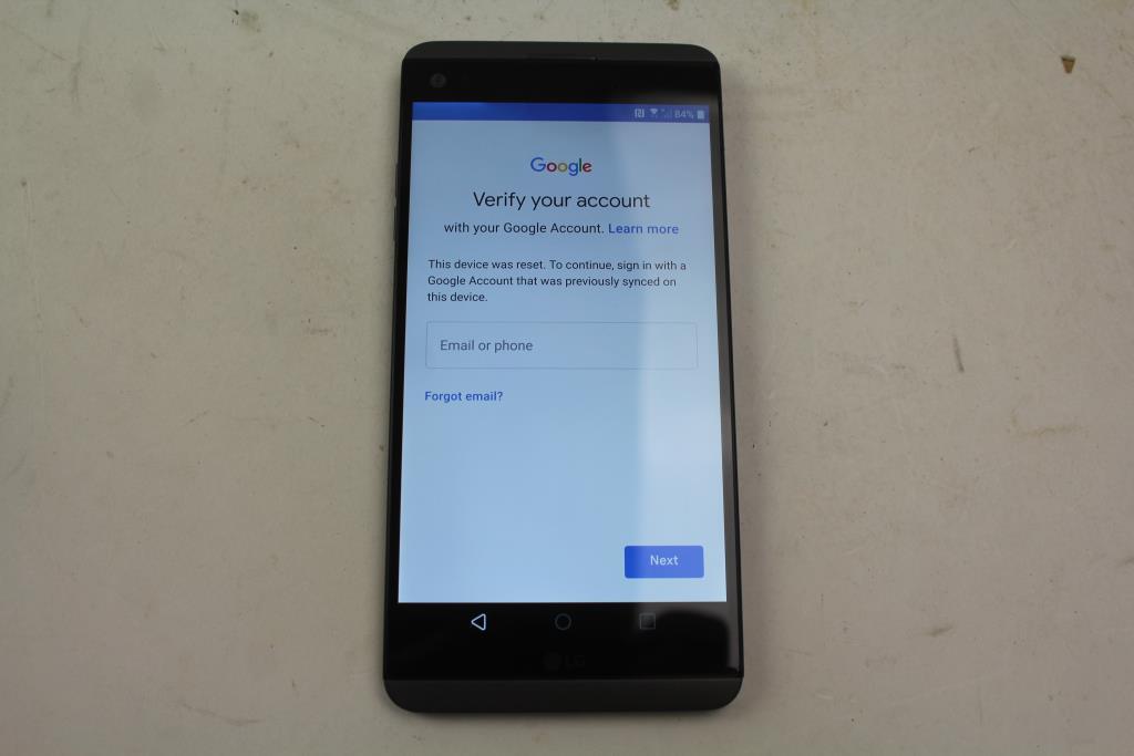 LG V20, 64GB, Verizon, Google Account Locked, Sold For Parts