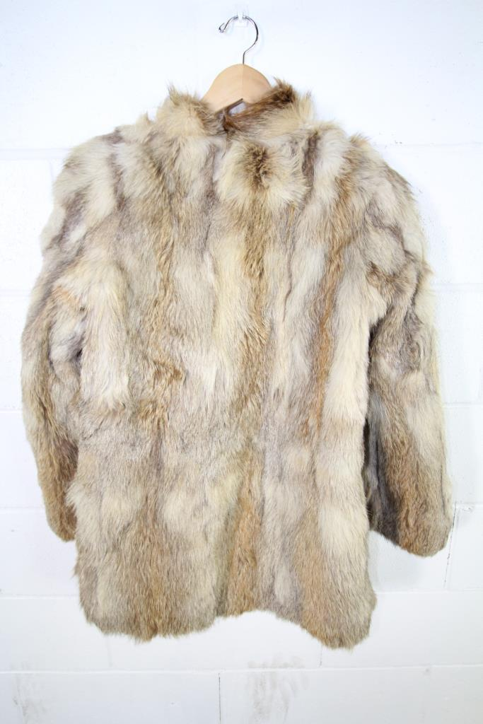 Light Brown And Cream Color Fur Coat | Property Room