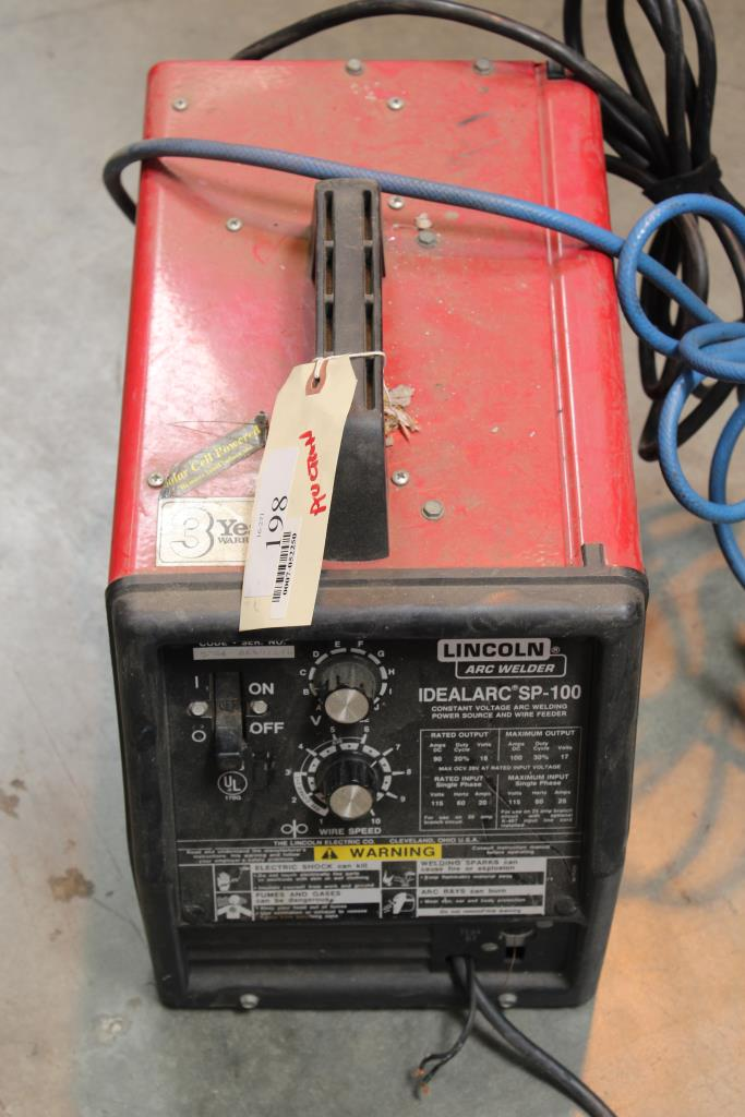 Lincoln Arc Welder Idealarc Sp 100 Property Room