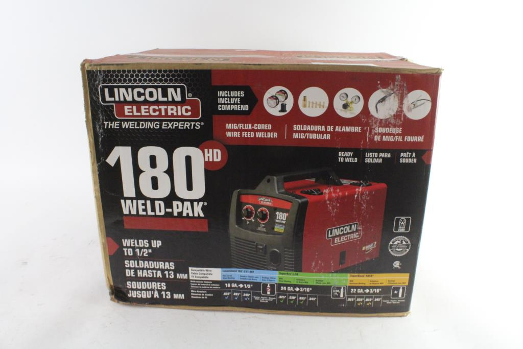Lincoln Electric 180 HD Weld-Pak Mig/Flux-Cored Wire Feed