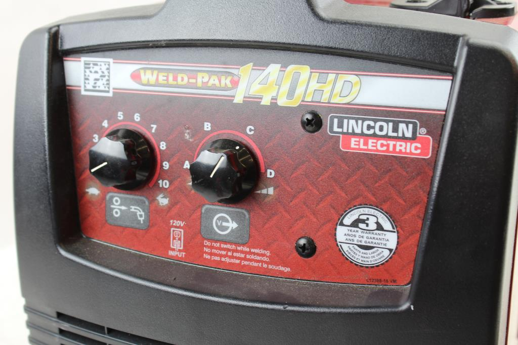 Lincoln Electric Weld Pak 140 Hd Wire Feed Welder Property Room