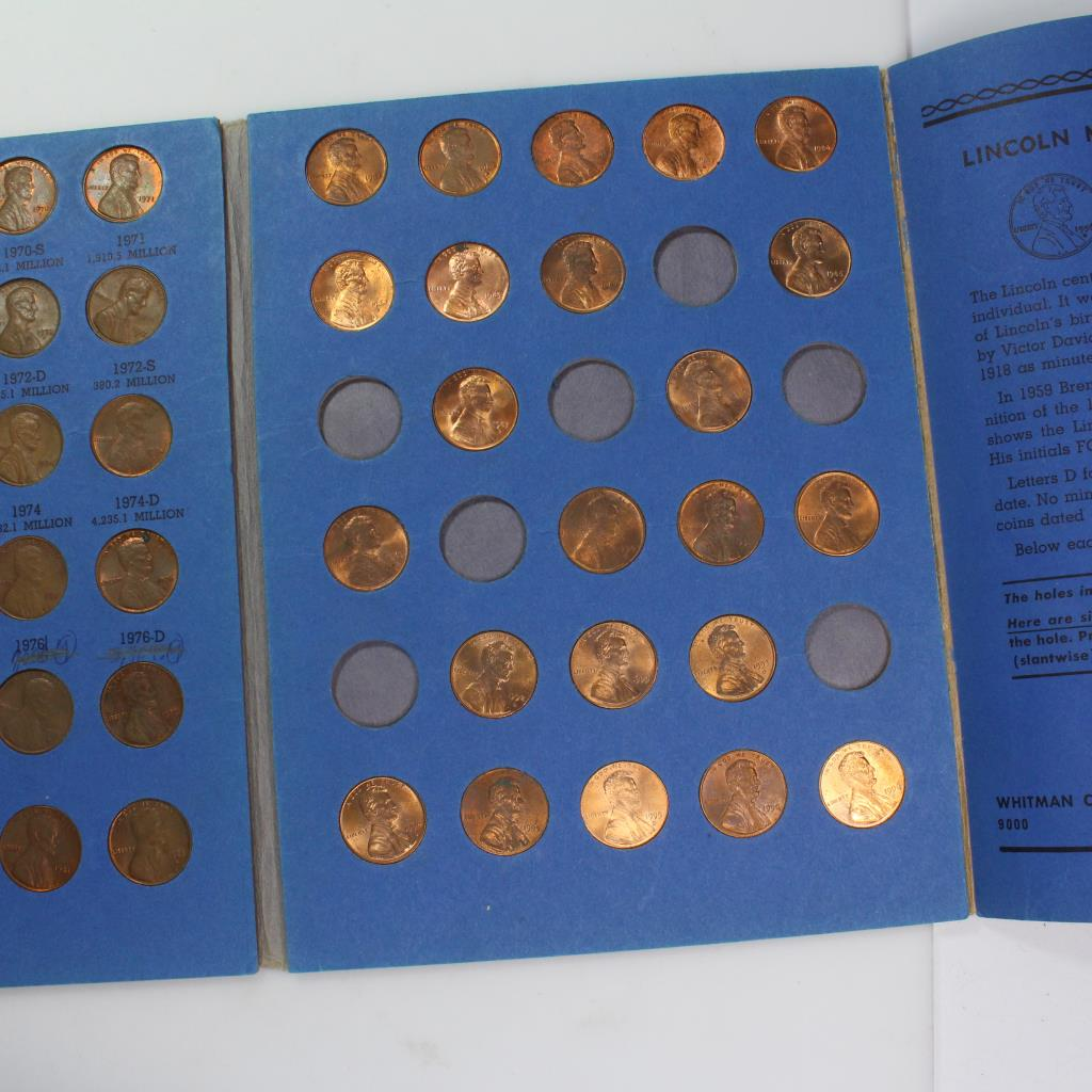 Lincoln Memorial Cent Collection Booklet | Property Room