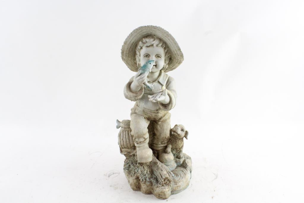 Beau An Image Relevant To This Listing. Little Boy Fishing Garden Statue