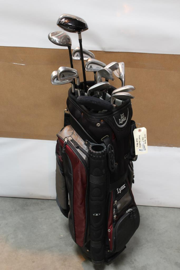 Lynx Golf Bag With Clubs 10 Pieces