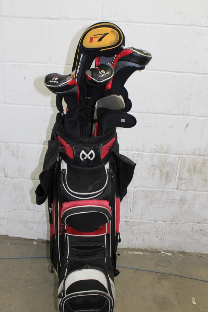 Maxfli Golf Bag With Clubs 13 Pieces