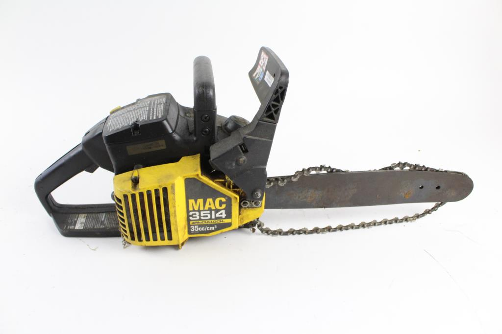 McCulloch MAC 3514 Chainsaw Property Room