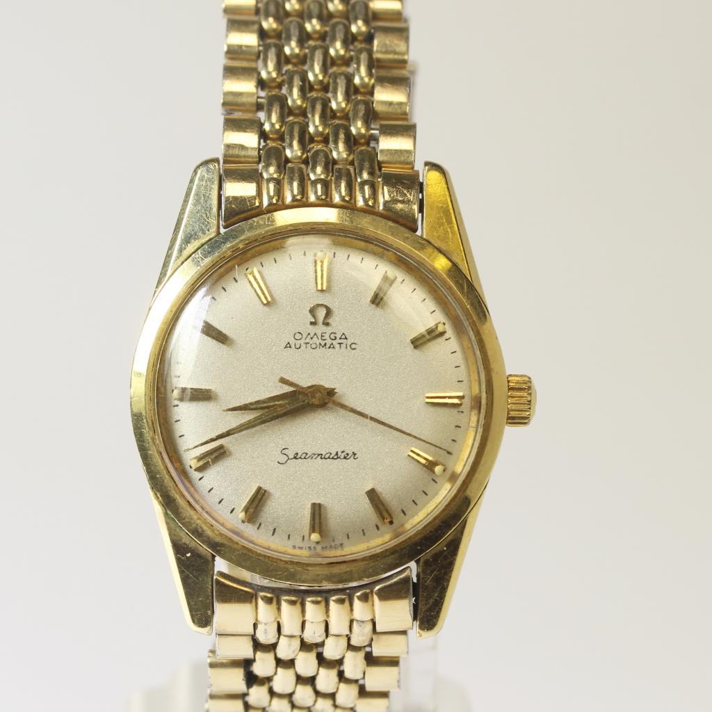 Mens 14kt Gold Plated 1960\u0027s Vintage Seamaster Omega Watch