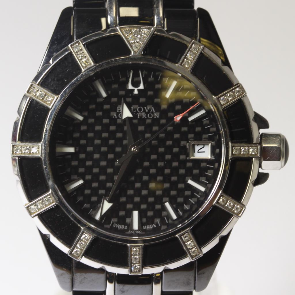 Men S Bulova Accutron Mirador Diamond Watch Property Room