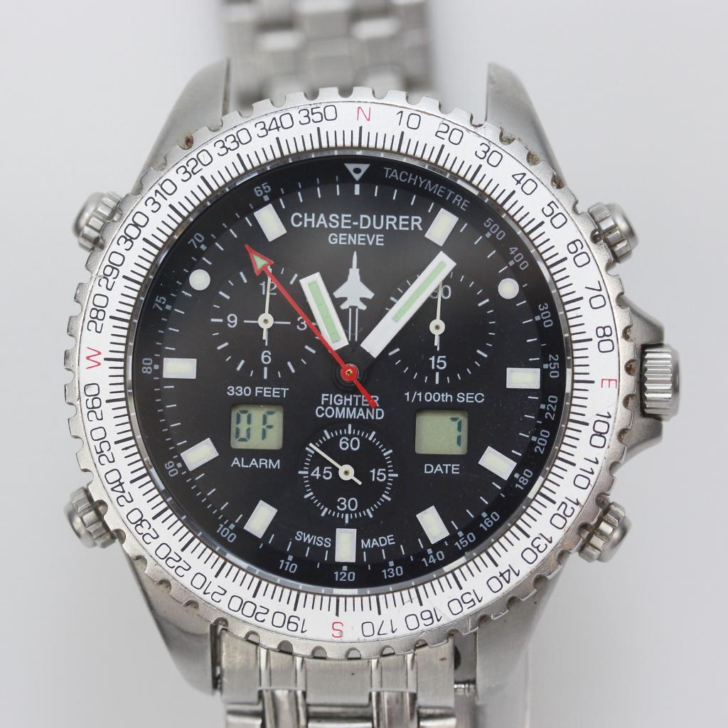 Men's Chase-Durer Fighter Command Pilot Watch - Evaluated By Independent  Specialist