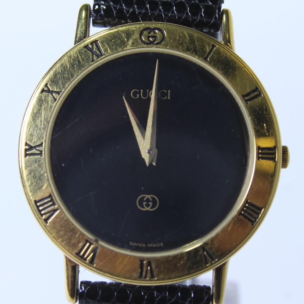 Men S Gucci 3000m Gold Plate Watch Property Room