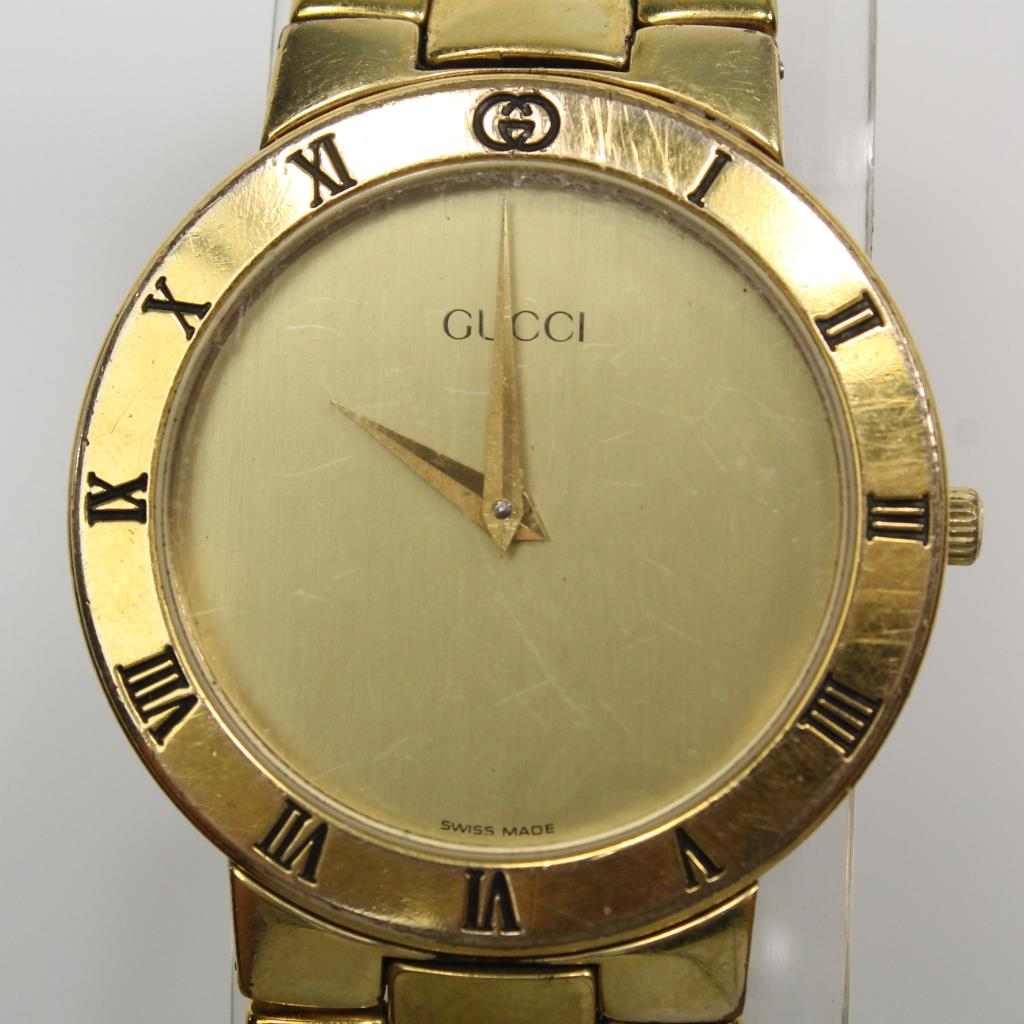Men S Gucci Gold Plated Watch Property Room