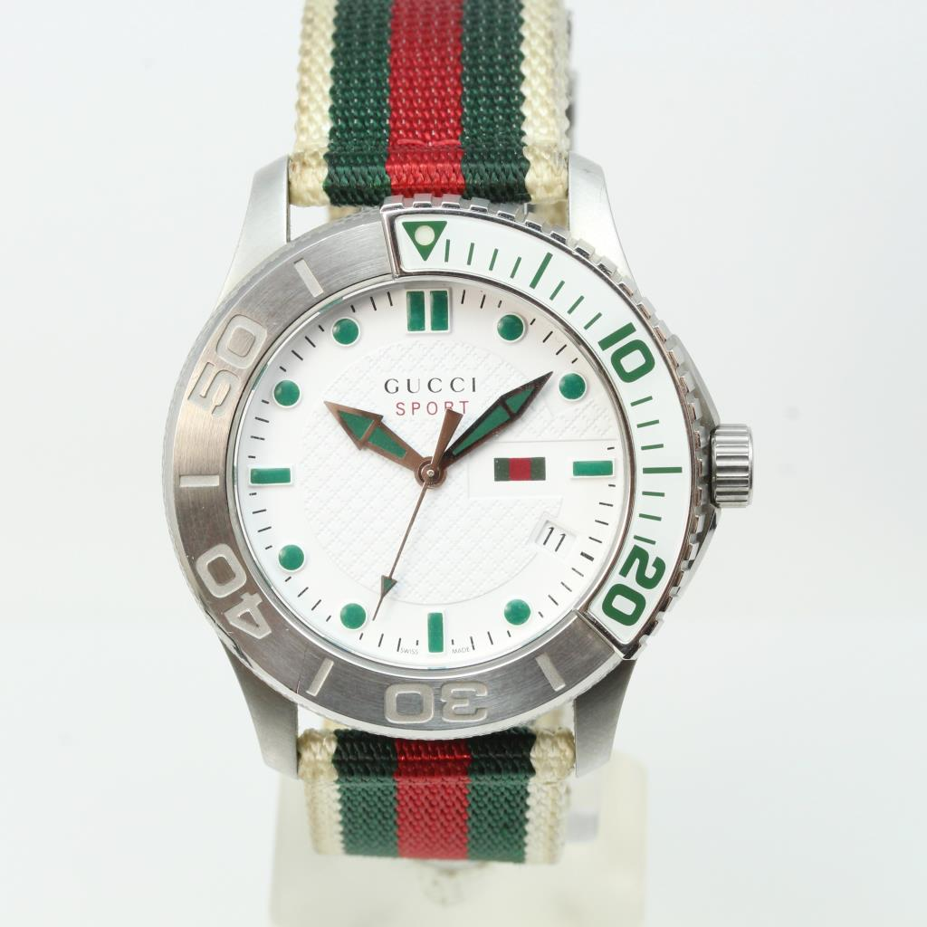 f44ed736d0b Image 1 of 6. Men s Gucci Sport Timeless Watch With Box And Papers -  Evaluated By Independent Specialist