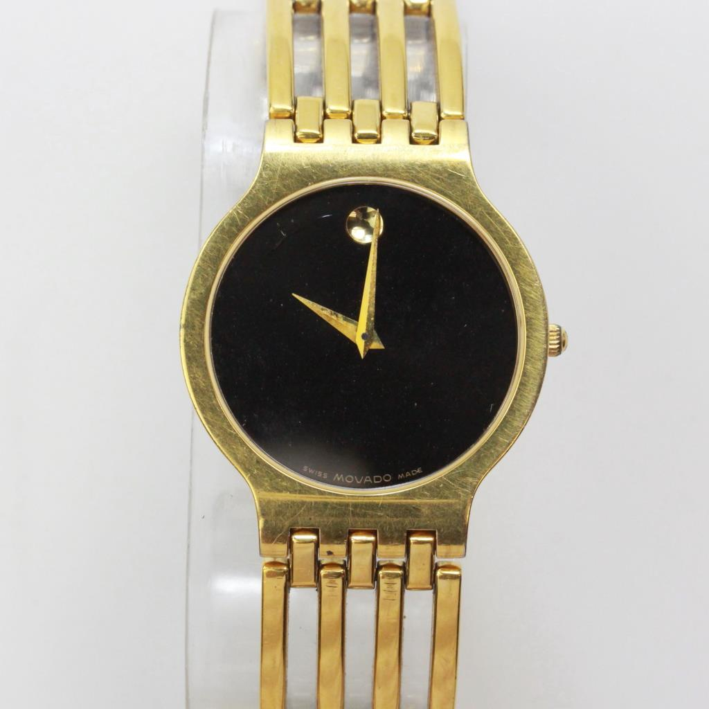 Men S Movado Esperanza Gold Plated Watch Property Room