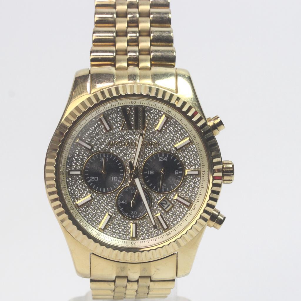 8c8d97ec2e12 Michael Kors Lexington Gold Tone Watch   Property Room
