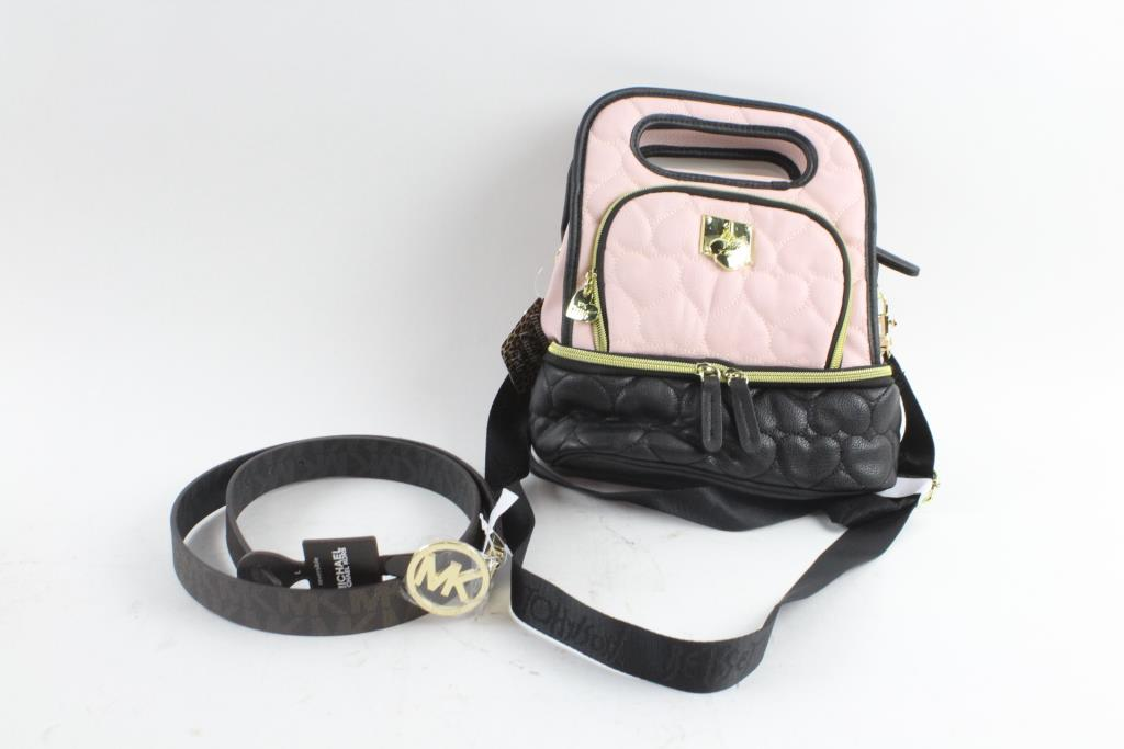 Michael Kors Mens Belt And Betsey Johnson Lunch Tote 2 Pieces