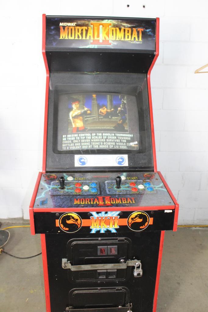 midway s mortal kombat ii arcade machine property room