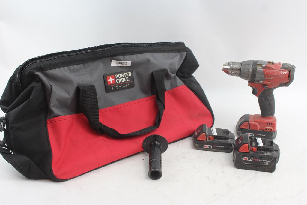 Milwaukee 1 2 Drill Driver Batteries In Porter Cable Tool Bag