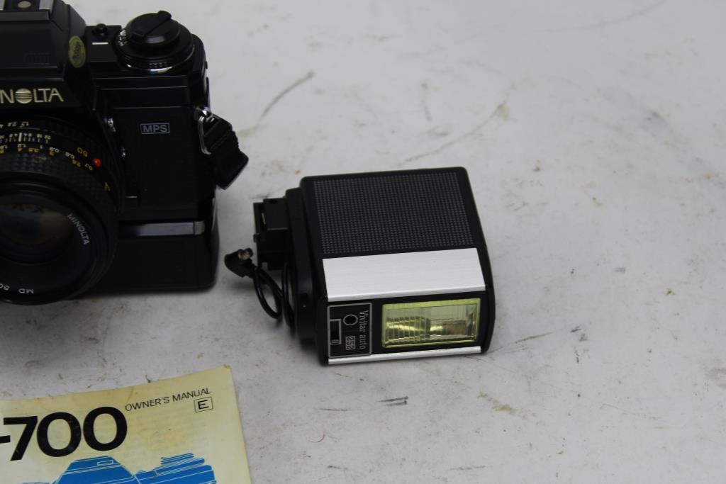 Minolta Camera, Vivitar Flash 2 Pieces | Property Room