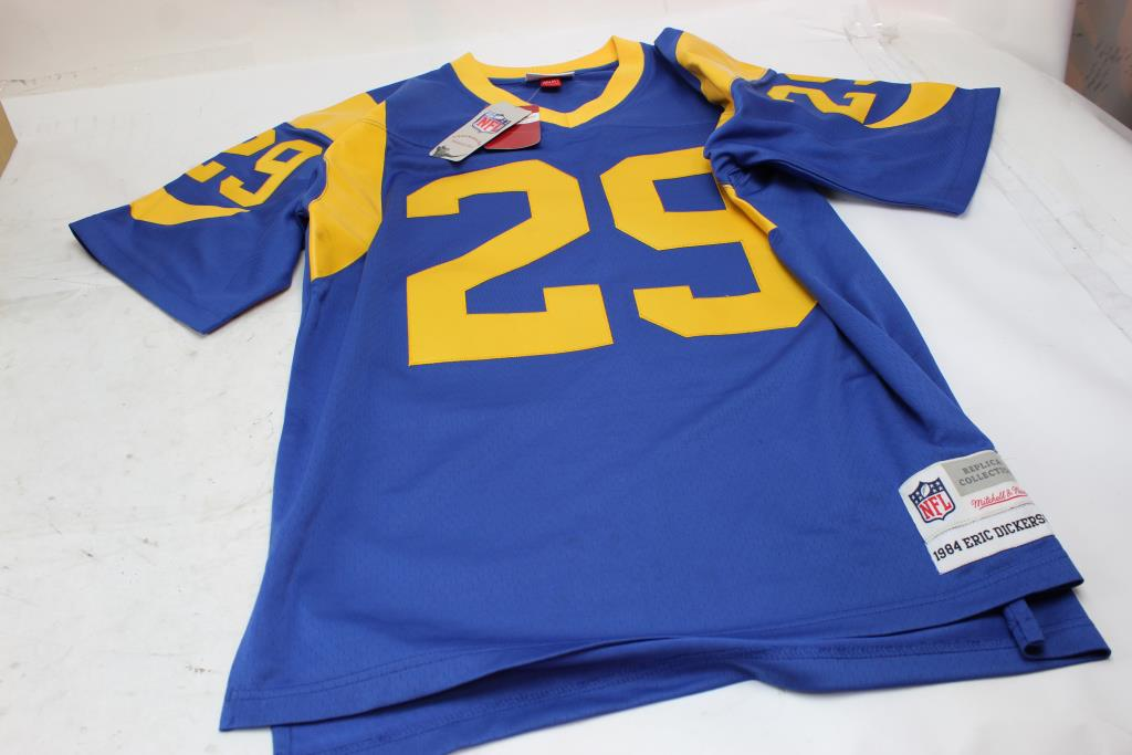 0b49ffe20 Mitchell And Ness Los Angeles Rams Eric Dickerson Replica Jersey, Size M