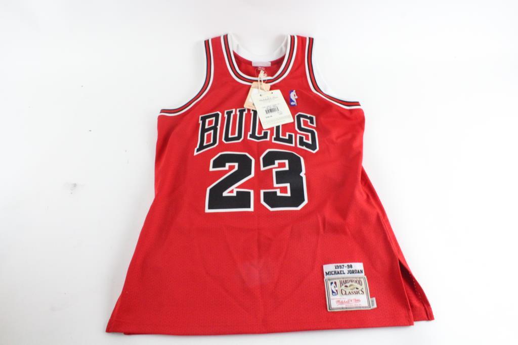 online store 03af6 0009b Mitchell & Ness NBA Hardwood Classics CHicago Bulls Michel ...