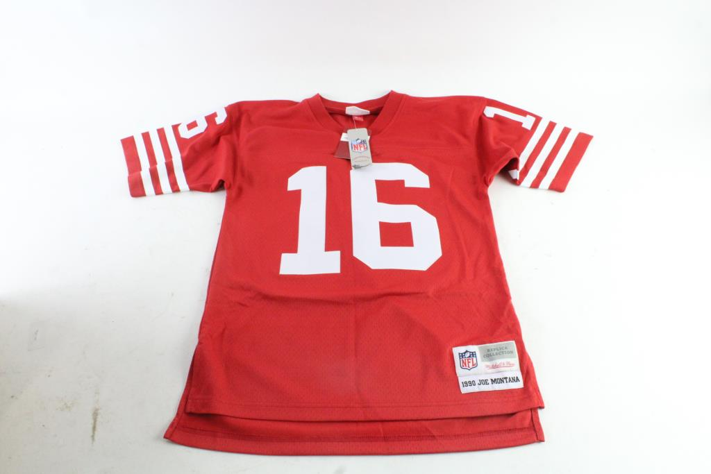 new product ffcaa 7b46d Mitchell & Ness NFL Joe Montana Jersey, Small | Property Room
