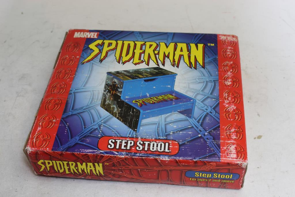 Fantastic Monkey Business Spider Man Kids Step Stool Property Room Machost Co Dining Chair Design Ideas Machostcouk