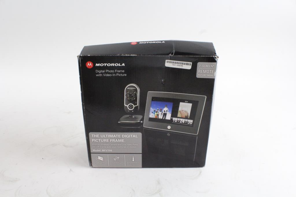 Motorola Digital Photo Frame With Video In Picture Property Room