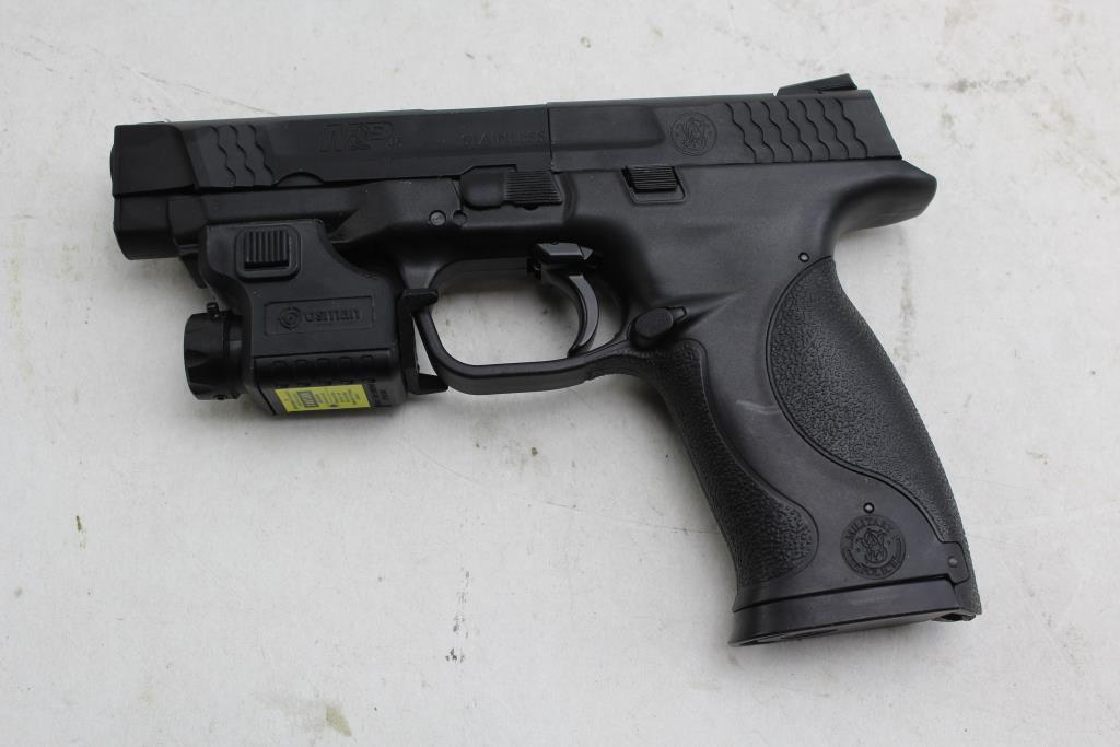 Mp45 Airsoft Bb Gun With Crosman Laser Sight Property Room