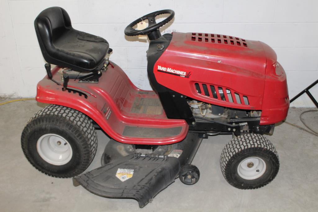 Mtd Yard Machine Ride On Mower Property Room