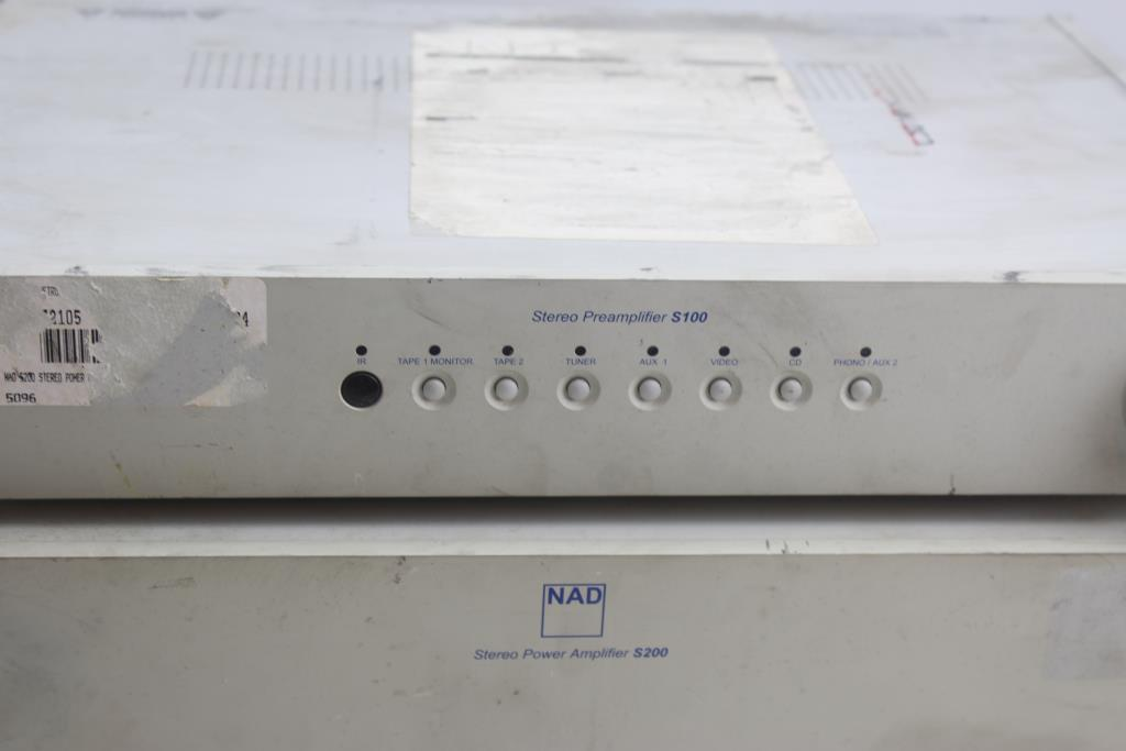 Nad Stereo Preamplifier S100 And Power Amplifier S200