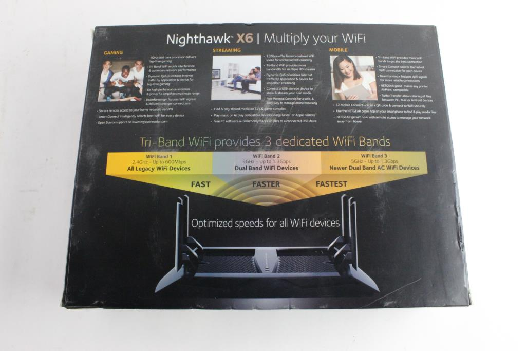 NetGear Nighthawk XG AC3200 Tri-Band WiFi Router | Property Room