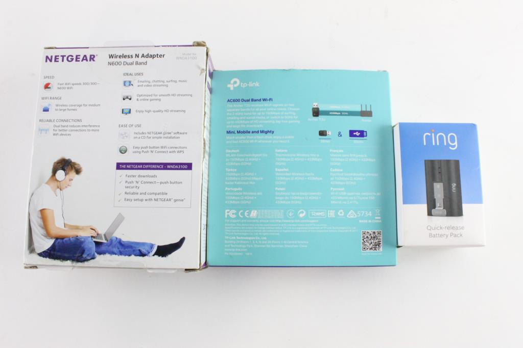 Netgear Wireless N Adapter And More, 3 Pieces | Property Room