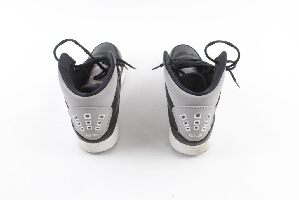 the latest 7293c c948f Nike Air Jordan 1 Flight Basketball Shoes, Black Grey White, Mens Size 10