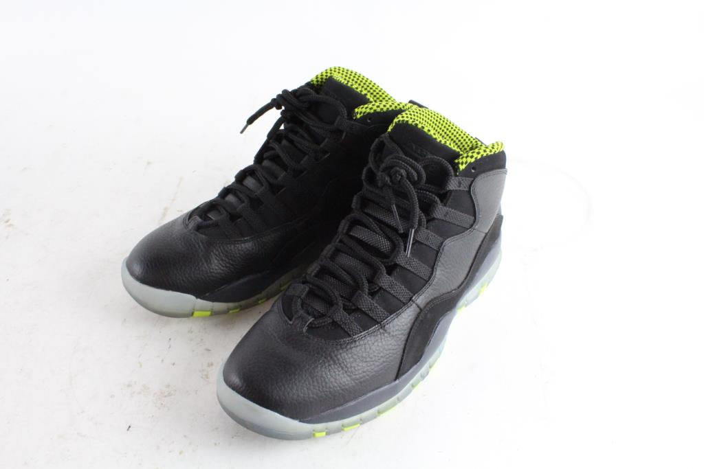 purchase cheap e6c02 a54a4 Nike Air Jordan 10 Retro 3 Venom Shoes, Black Green, Mens Size 10.5